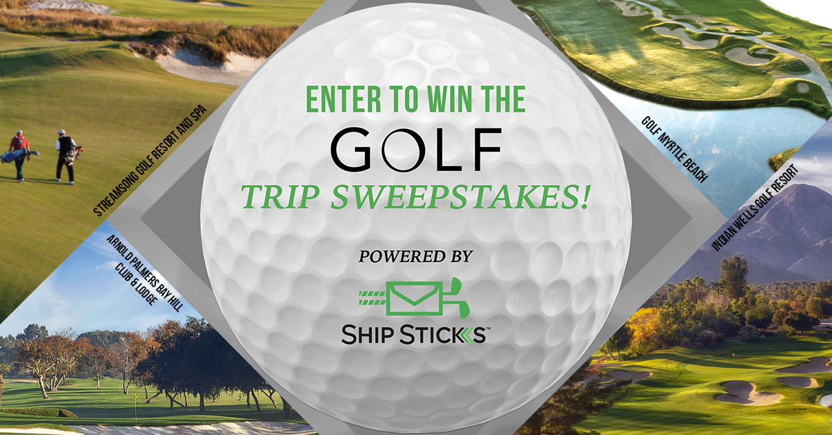 Enter the Ultimate Golf Trip Sweepstakes powered by Ship Sticks